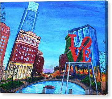 Philly Love Canvas Print