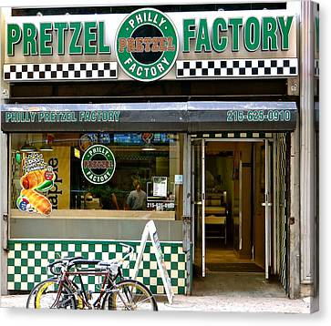 Philly Pretzel Factory Canvas Print