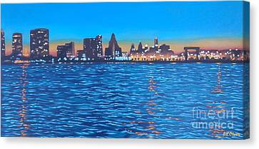 Philly Skyline Canvas Print by Elisabeth Olver