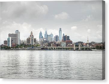 Philly Skyline Canvas Print by Jennifer Ancker