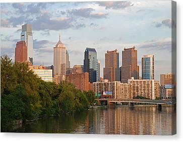 Philly Summer Skyline Canvas Print by Jennifer Ancker