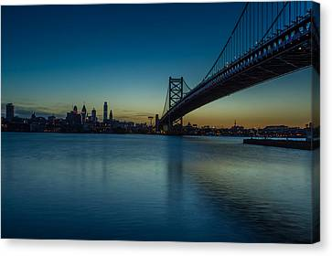 Philly Sunset Canvas Print by David Hahn