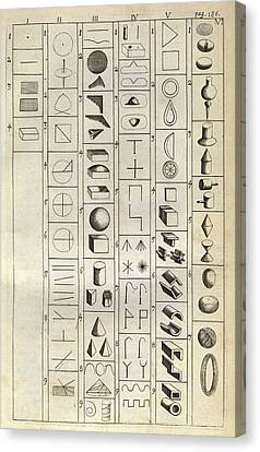 Philosophical Symbology Canvas Print by Middle Temple Library