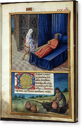 Philosophy And Boethius Canvas Print by British Library