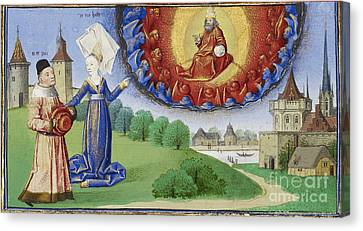 Philosophy Instructs Boethius On God Canvas Print by Getty Research Institute