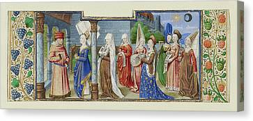 Philosophy Presenting The Seven Liberal Arts To Boethius Canvas Print by Litz Collection