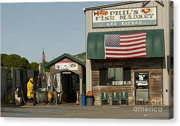 Phils Fish Market Moss Landing Canvas Print by Artist and Photographer Laura Wrede