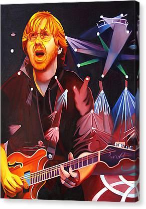Phish Full Band Anastasio Canvas Print by Joshua Morton
