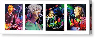 Phish Full Band Canvas Print by Joshua Morton