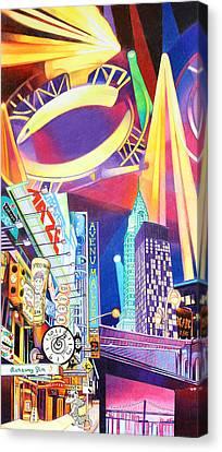 Phish New Years In New York Left Panel Canvas Print by Joshua Morton