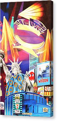 New Stage Canvas Print - Phish New Years In New York Right Panel by Joshua Morton