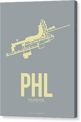 Phl Philadelphia Airport Poster 1 Canvas Print by Naxart Studio