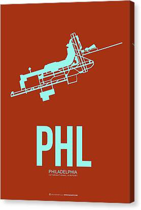 Phl Philadelphia Airport Poster 2 Canvas Print by Naxart Studio