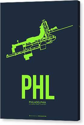 Phl Philadelphia Airport Poster 3 Canvas Print by Naxart Studio