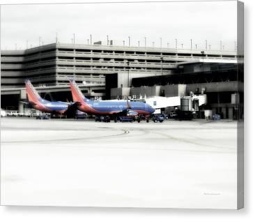 Airoplane Canvas Print - Phoenix Az Southwest Planes by Thomas Woolworth
