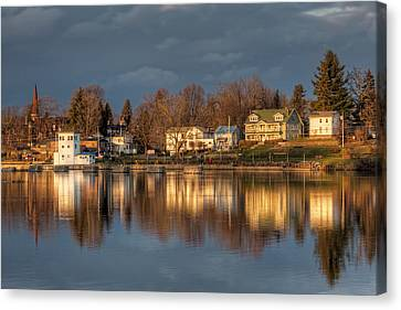 Reflection Of A Village - Phoenix Ny Canvas Print by Everet Regal