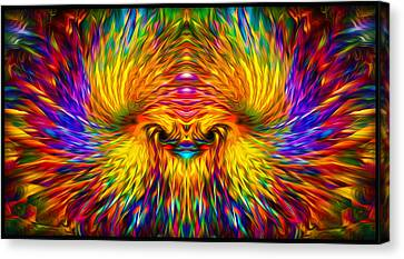 Canvas Print featuring the painting Phoenix Rising  by Jalai Lama