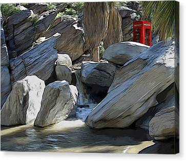 Phone Booth Canvas Print by Snake Jagger