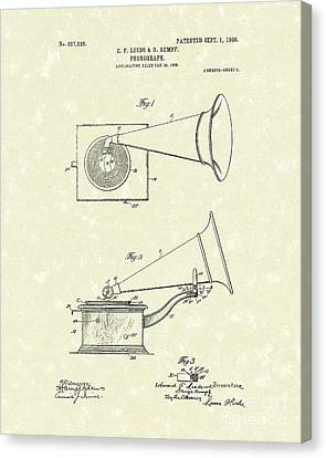 Disc Canvas Print - Phonograph 1908 Patent Art by Prior Art Design