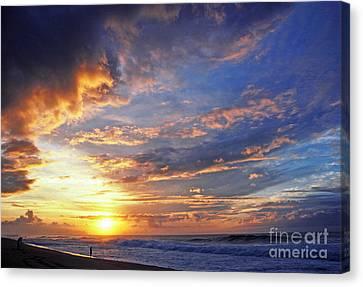 Photo Shoot Sunset Banzai Beach Canvas Print by Thomas R Fletcher