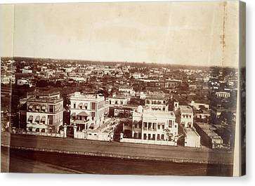 Photograph Of Calcutta Canvas Print by British Library
