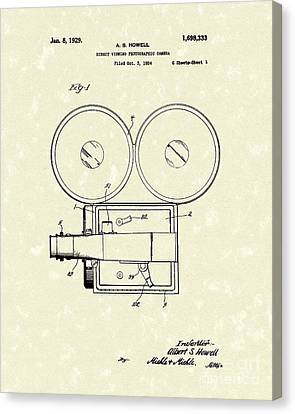 Photographic Camera 1929 Patent Art Canvas Print by Prior Art Design