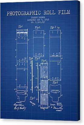 Photographic Roll Film Patent From 1915 - Blueprint Canvas Print