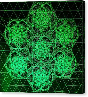 Canvas Print featuring the drawing Photon Interference Fractal by Jason Padgett