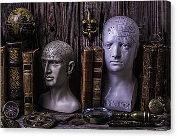 Phrenology Still Life Canvas Print by Garry Gay
