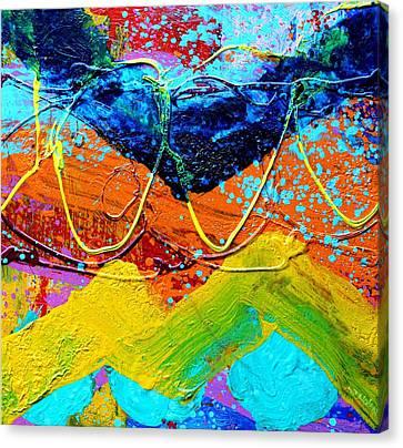 Phthalo Chevron Canvas Print by John  Nolan