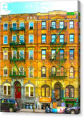 Physical Graffiti Houses Canvas Print by Adam Workman