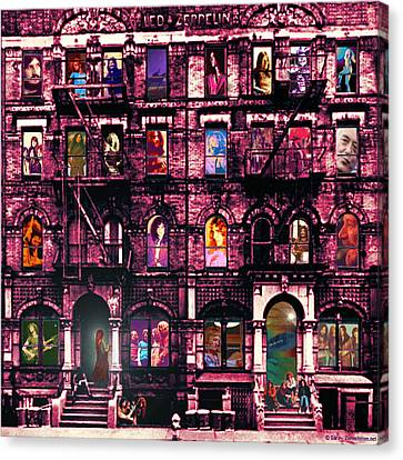 Physical Graffiti Canvas Print - Physical Graffitied  by Sara Pixel Pixie