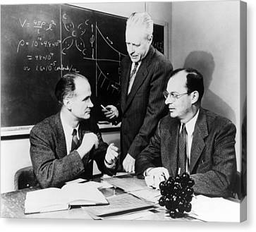 Physicists Brattain, Bardeen And Canvas Print by Science Photo Library