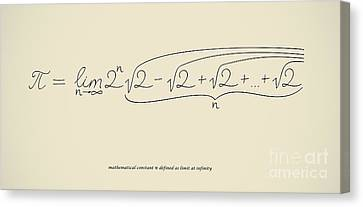 Pi As Limit At Infinity Canvas Print