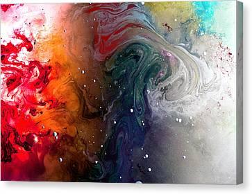 Pi Galaxy Canvas Print by Petros Yiannakas