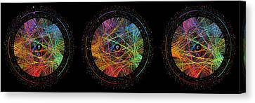 Data Canvas Print - Pi Phi And E Transition Paths by Martin Krzywinski