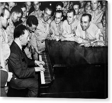 Pianist Arthur Rubinstein Canvas Print