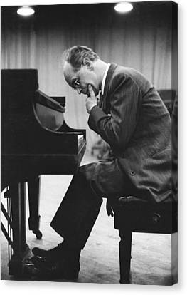 Chin On Hand Canvas Print - Pianist Rudolf Serkin by Underwood Archives
