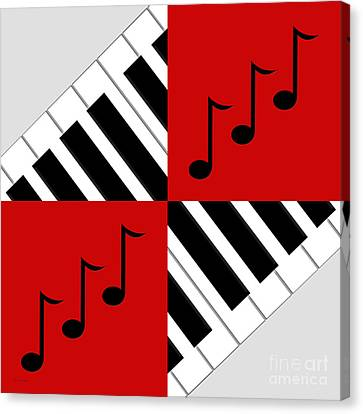 Piano Abstract 3 Canvas Print by Andee Design