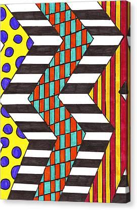 Piano Keys Canvas Print by Alison Cloninger