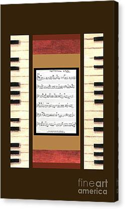 piano keys sheet music to Keep Of The Promise by Kristie Hubler Canvas Print by Kristie Hubler