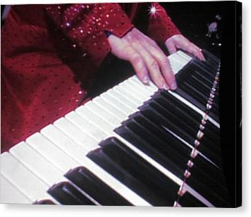 Piano Man At Work Canvas Print by Aaron Martens