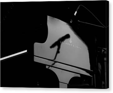 Piano Needs A Microphone Canvas Print by Tony Reddington