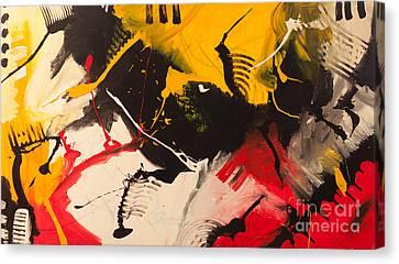 Piano On Fire Canvas Print by Vladinsky