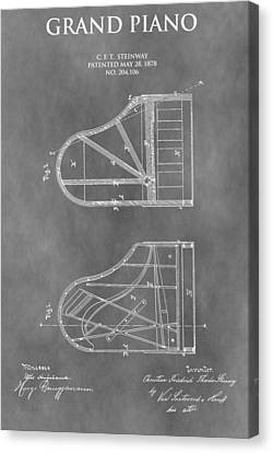 Piano Patent Canvas Print by Dan Sproul