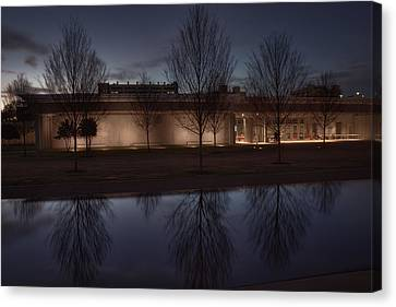 Piano Pavilion Night Reflections Canvas Print by Joan Carroll