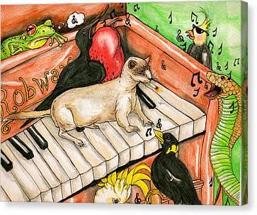 Piano Sing Along Canvas Print
