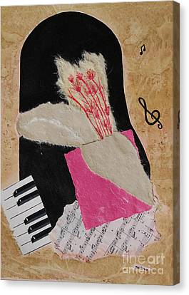 Canvas Print featuring the painting Piano Still Life by Mini Arora