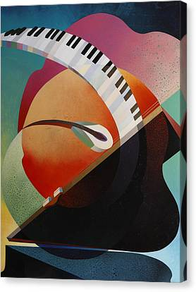 Pianoforte Canvas Print by Fred Chuang