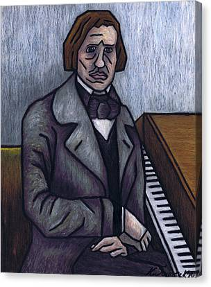 Piano's Finest Poet Fryderyk Chopin Canvas Print by Kamil Swiatek